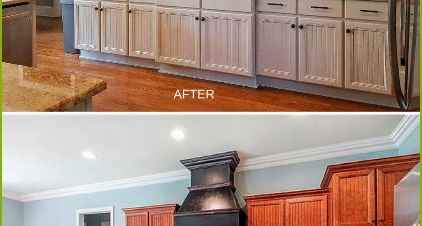 New Painting Wood Kitchen Cabinets White Before After