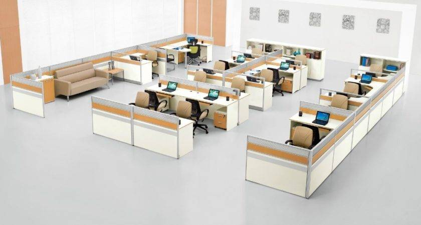 Office Cubicle Layout Design Interior Ideas