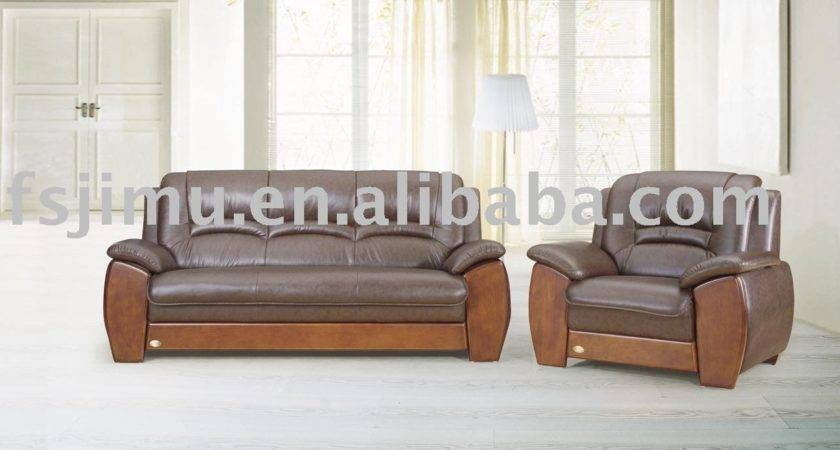 Office Furniture Modern Style Wooden Sofa Setview