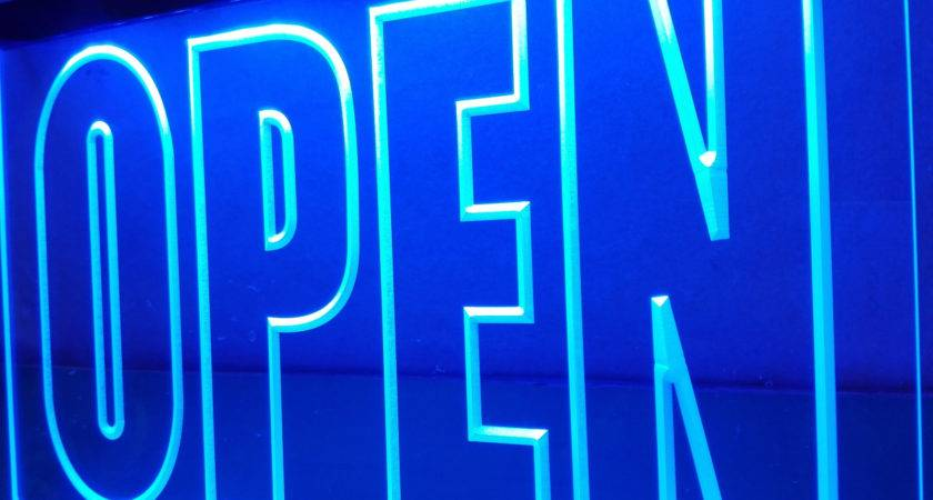 Open Display Cafe Business Led Neon Light Sign Home