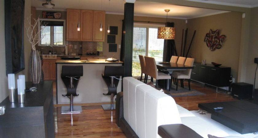 Open Layout Living Dining Kitchen