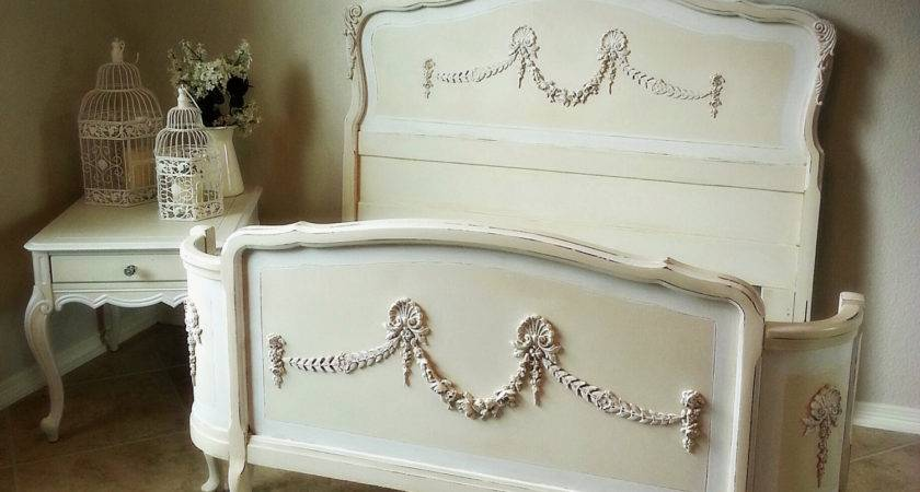 Ornate Antique French Double Bed