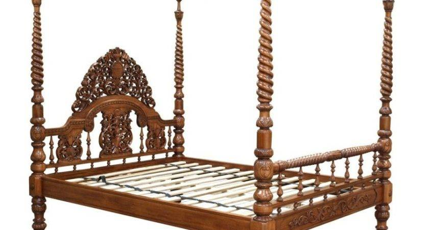 Ornate Carved Four Poster Bed Akd Furniture