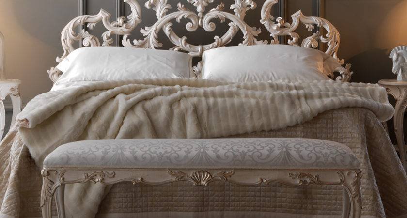Ornate Rococo Reproduction Italian Storage Bed