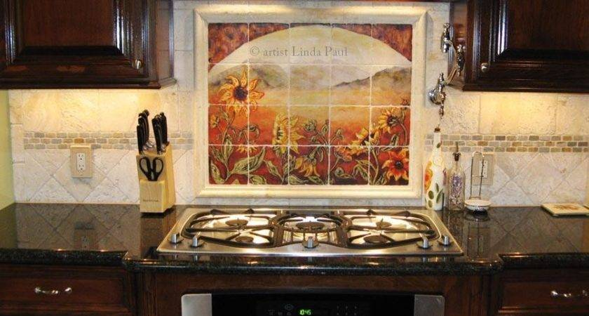 Our Tumbled Stone Tile Mural Backsplashes Accent