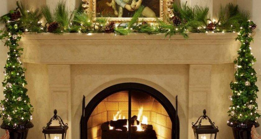Outdoor Fireplace Patio Designs Christmas Decorating
