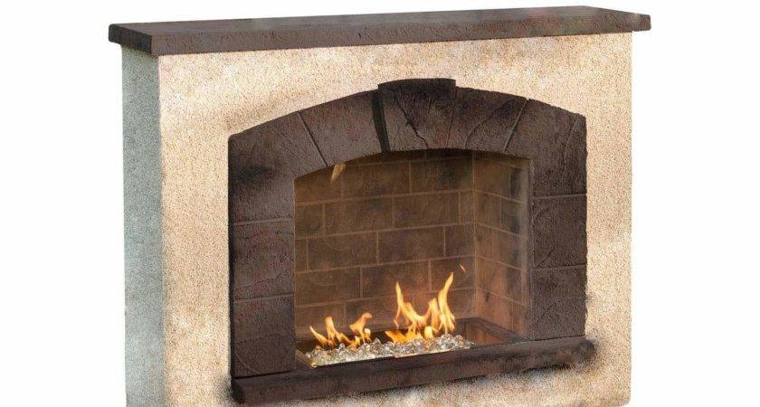 Outdoor Greatroom Stone Arch Gas Fireplace New Ebay