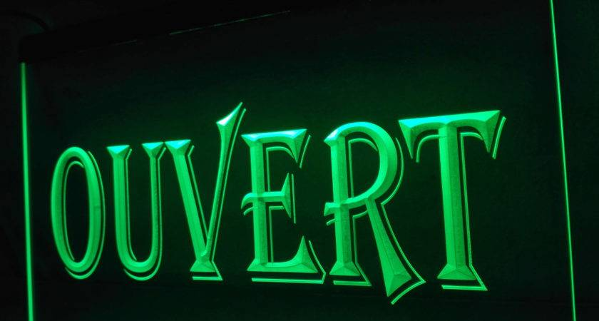 Ouvert Open Led Neon Light Sign Home Decor Crafts