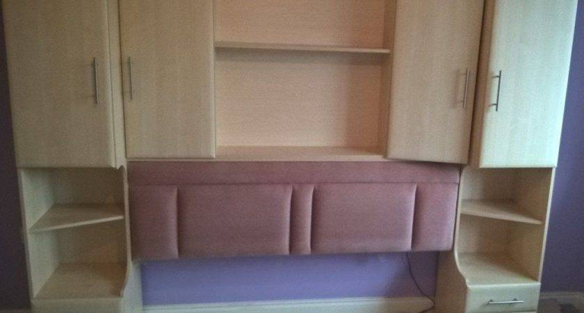 Over Bed Wardrobe Storage Dressing Table Stool