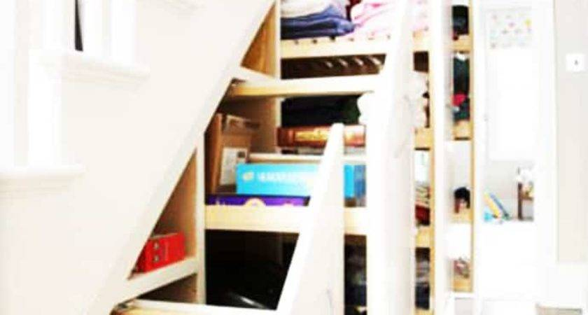 Over Clever Under Staircase Storage Space Ideas