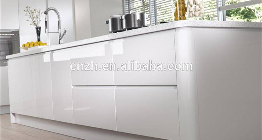 Pac High Gloss White Lacquer Kitchen Cabinet Modern