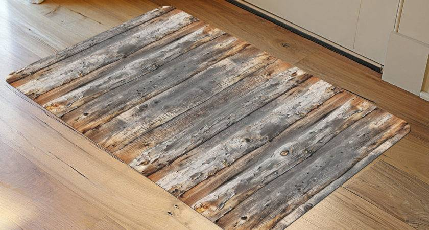 Padded Rug Weathered Wood Patterned Rugs