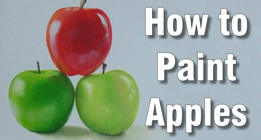 Paint Apples Acrylic Time Lapse Painting