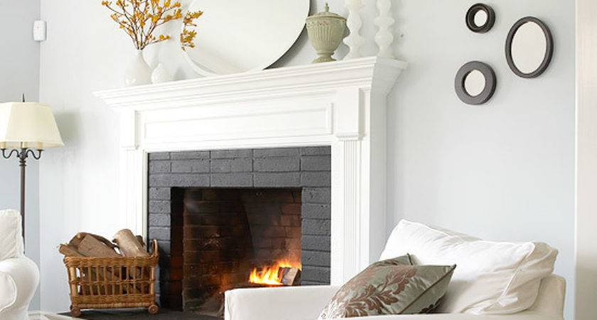 Paint Old Brick Vitalize Your Fireplace