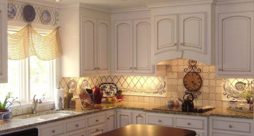 Painted Backsplash Ideas Kitchen