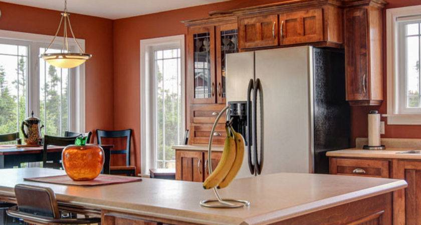 Painting Rich Brown Colors Kitchen Walls