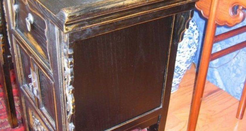 Pair Asian Bedside Tables Stdibs