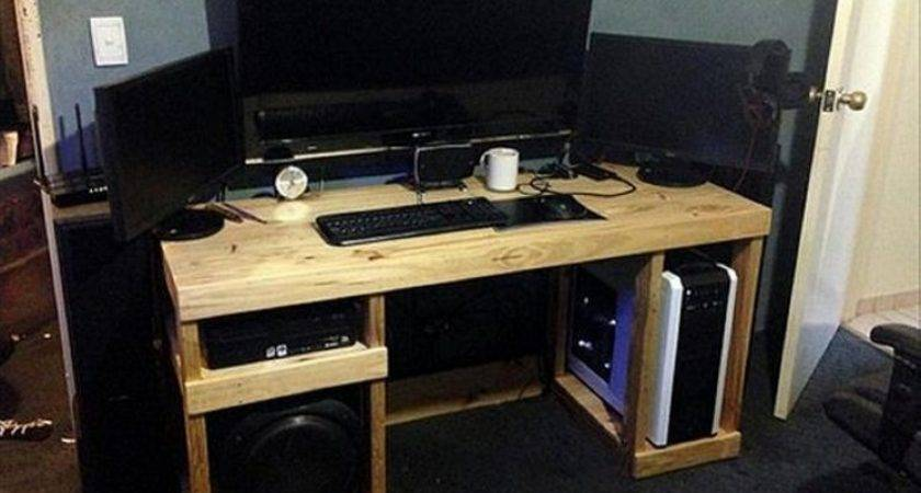 Pallet Computer Desks Wood Projects