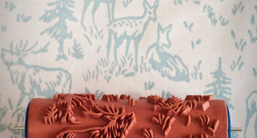 Patterned Paint Roller Painted House