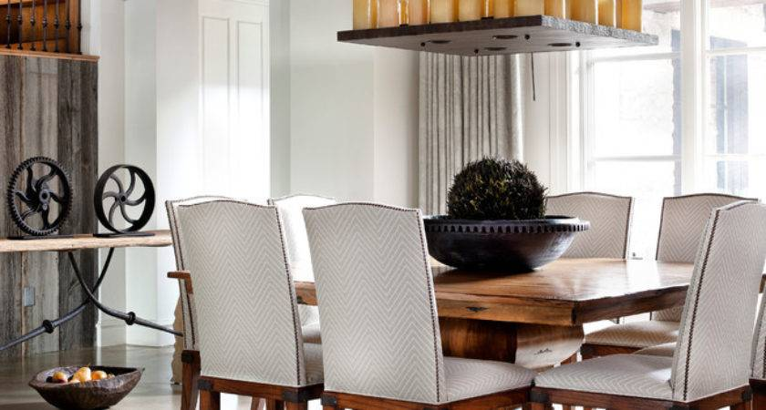 Pedestal Dining Table Room Contemporary