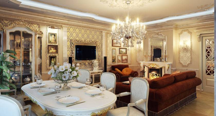Perfectly Decorate Living Room Dining Combo