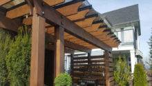 Pergolas Roof Glass Tile Protect Outdoor Furniture