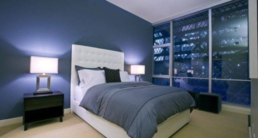 Personal Paradise Dark Blue Paint Bedroom