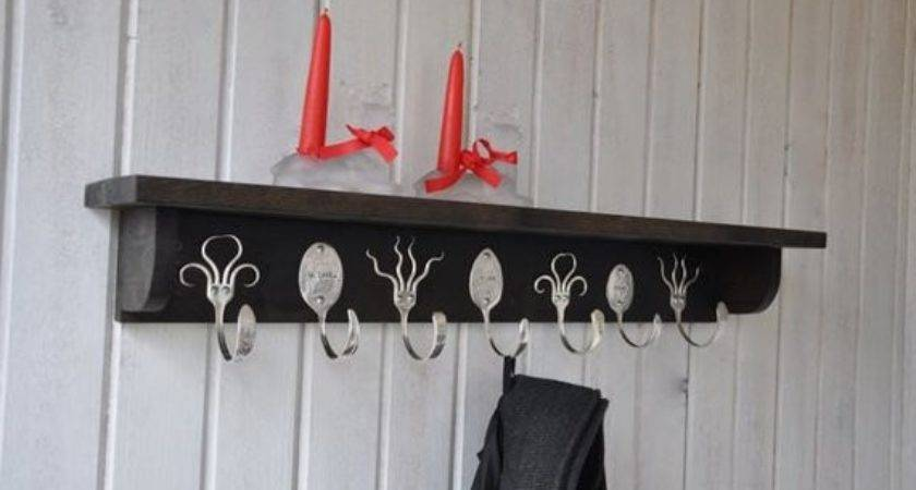 Personalized Spoon Hooks Funky Fork Coat Rack