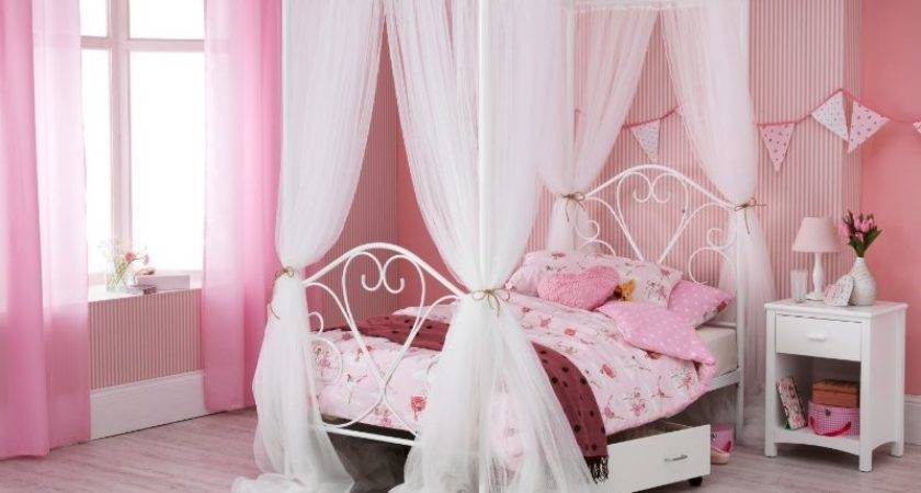 Pink Poster Bed Home Decoration