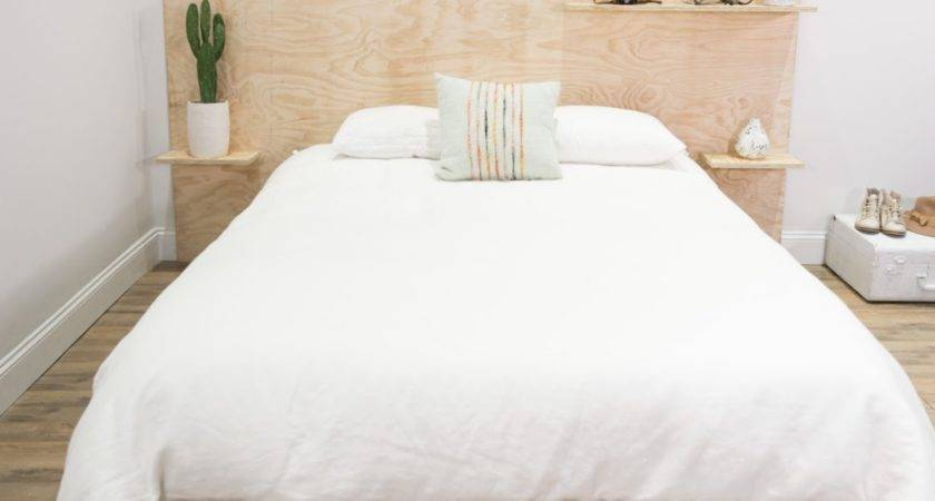 Plywood Headboard Bed Diy Ideas Poppytalk