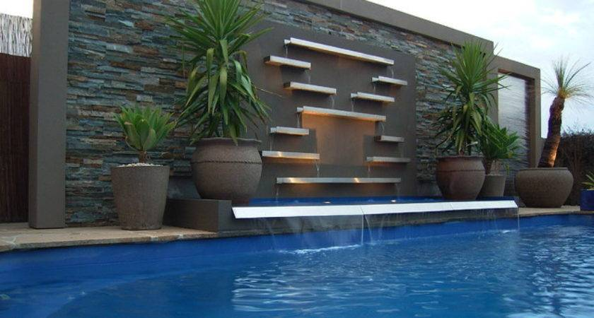 Pool Water Features Contemporary Melbourne