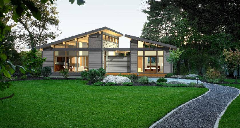 Predesigned Green Homes Lindal Modern Frame
