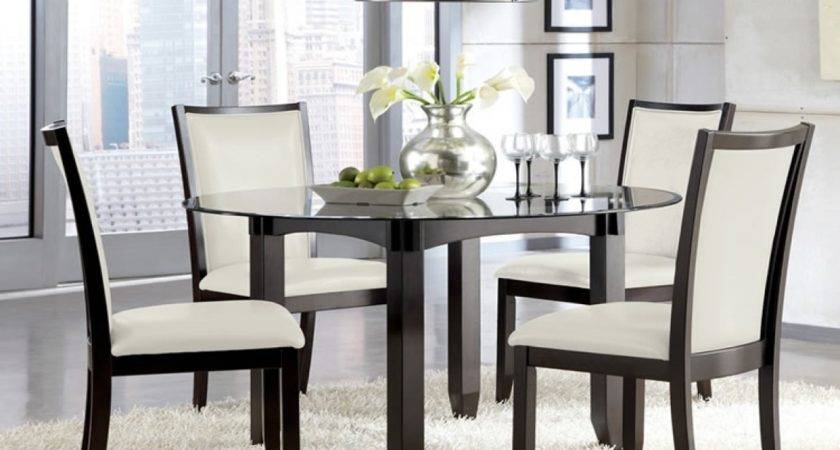 Pub Kitchen Tables Chairs Round Glass Dining Table