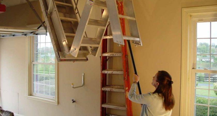 Pull Down Attic Stairs Ideas Best Way Make Your