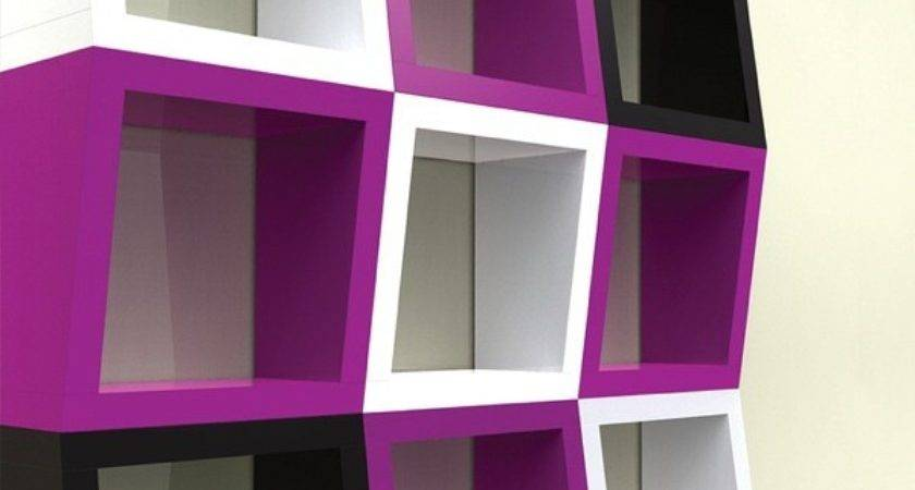 Qubicle Funky Shelves Bold Bright Colors