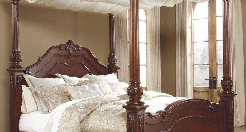 Queen Canopy Bed Four Poster Victorian Cherry