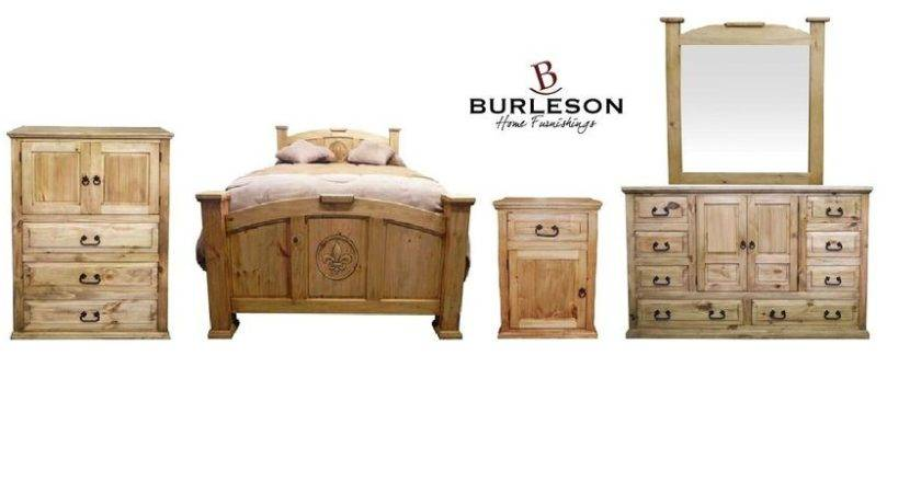 Queen Real Wood Promo Mansion Set Western Rustic