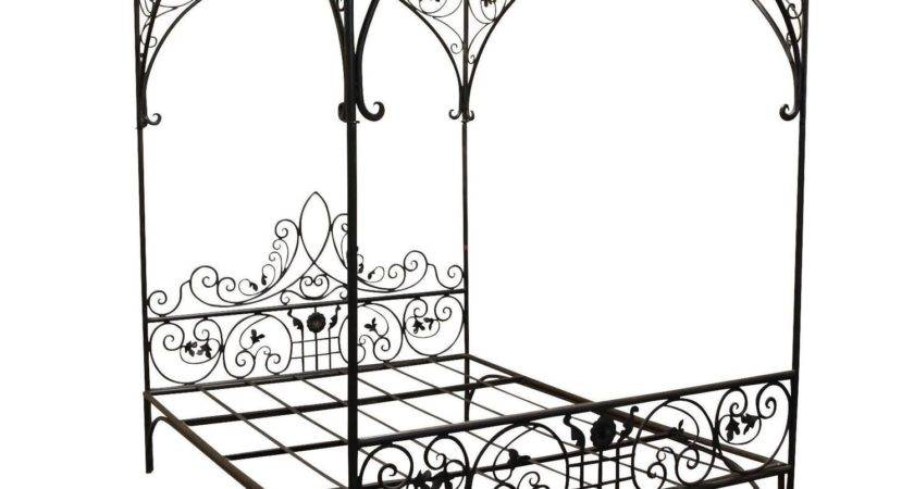 Queen Wrought Iron Vine Canopy Bed Sale Stdibs