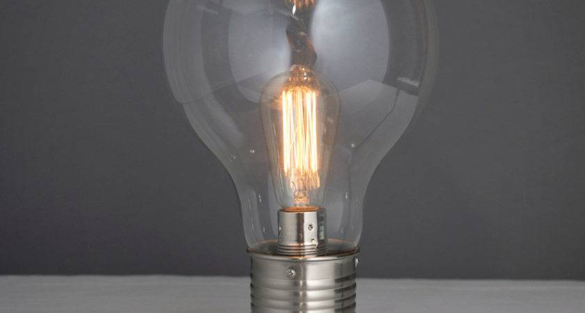 Quirky Light Bulb Table Lamp