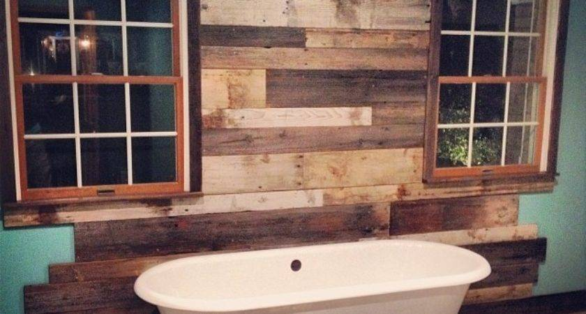 Reclaimed Things Wood Wall Rustic Bathroom Other