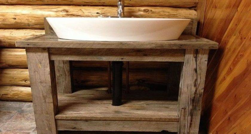 Reclaimed Wood Vanity Cabinet Bathroom