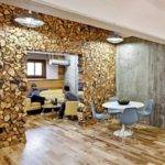 Reclaimed Wood Wall Design Sponge Interior