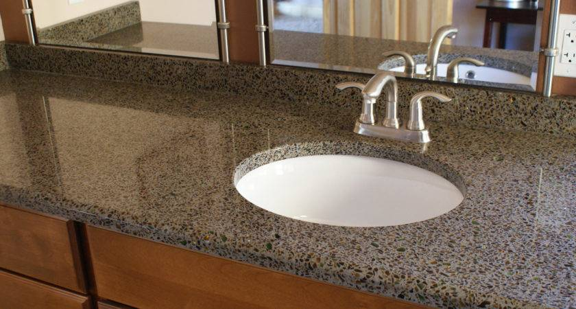 Recycled Glass Countertops Green Field Stone