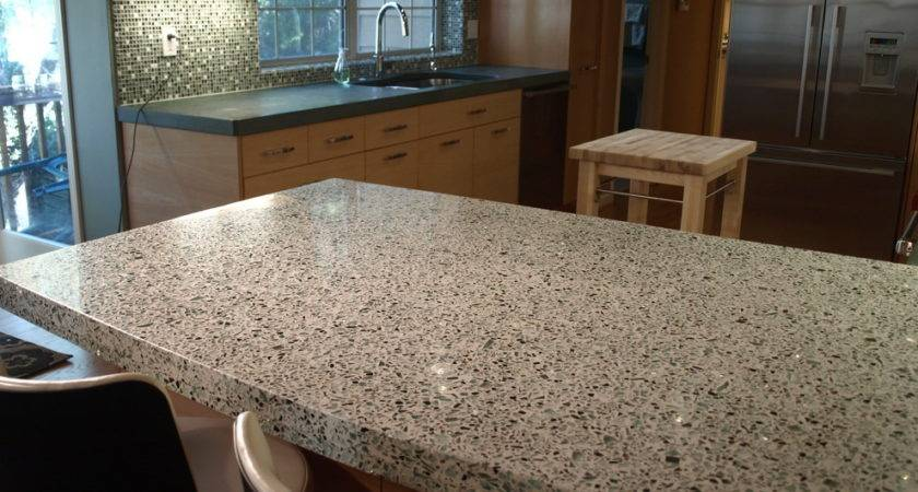 Recycled Glass Countertops Kitchen Contemporary Geos