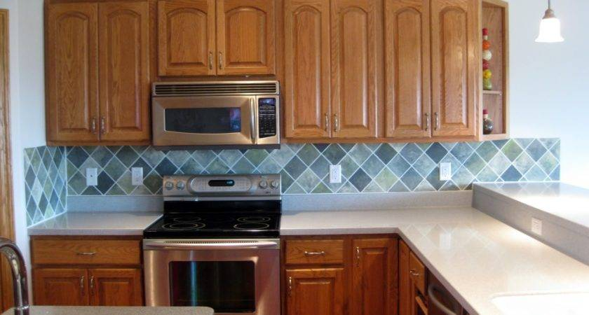 Remodelaholic Faux Painted Tile Backsplash