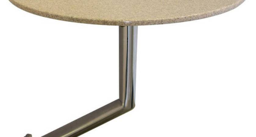 Removable Corian Pedestal Side Table