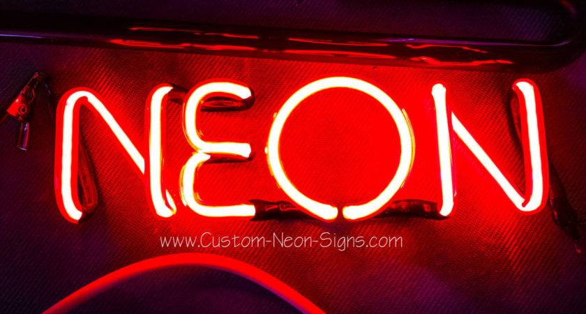 Rglo Custom Neon Signs Made Clear Ruby