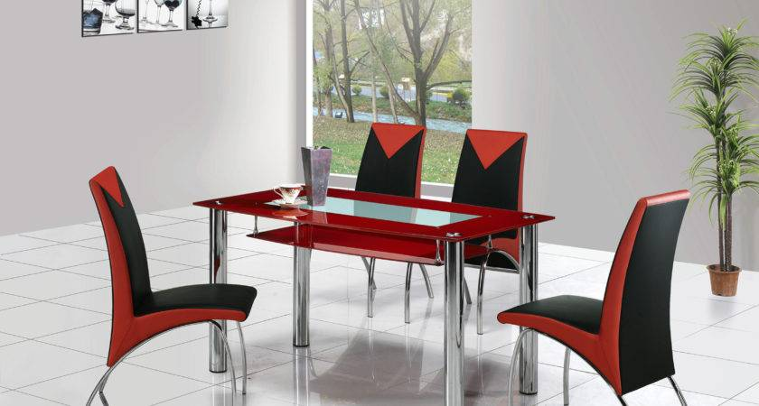 Rimini Large Glass Dining Table Chairs