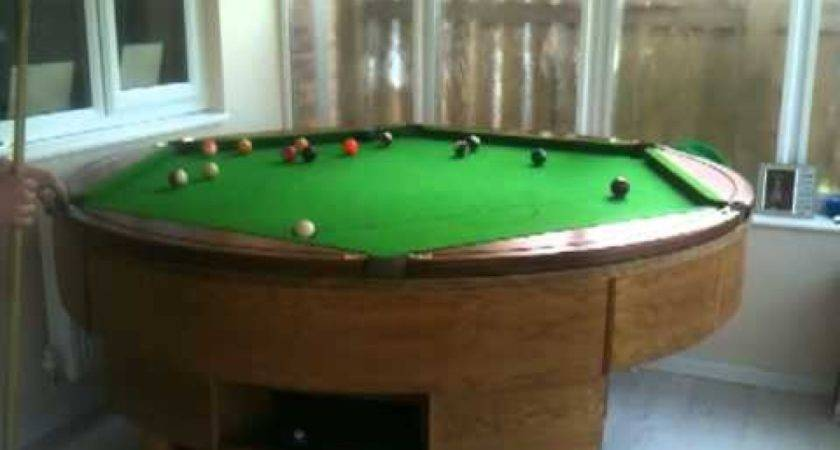 Round Pool Table Shelby Knox