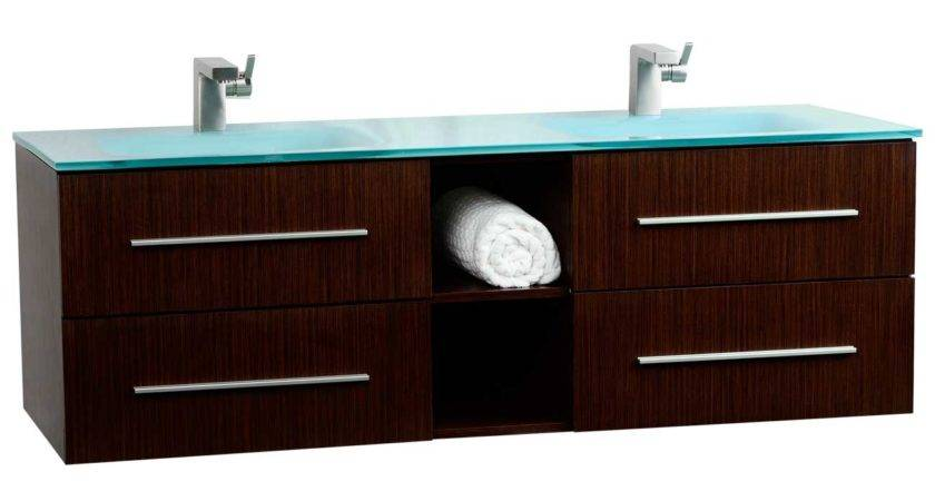 Savona Wall Mounted Double Bathroom Vanity Set
